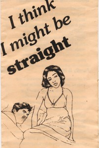 """I think I might be straight"" pamphlet"