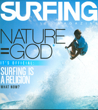 Surfing magazine cover, 2008