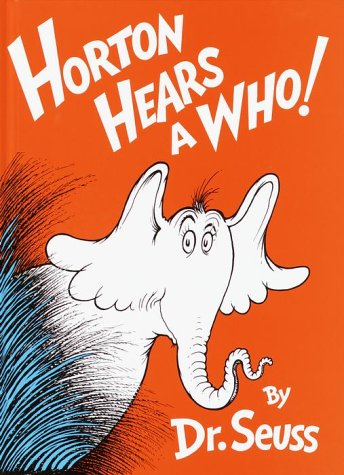 Horton hears a who book cover